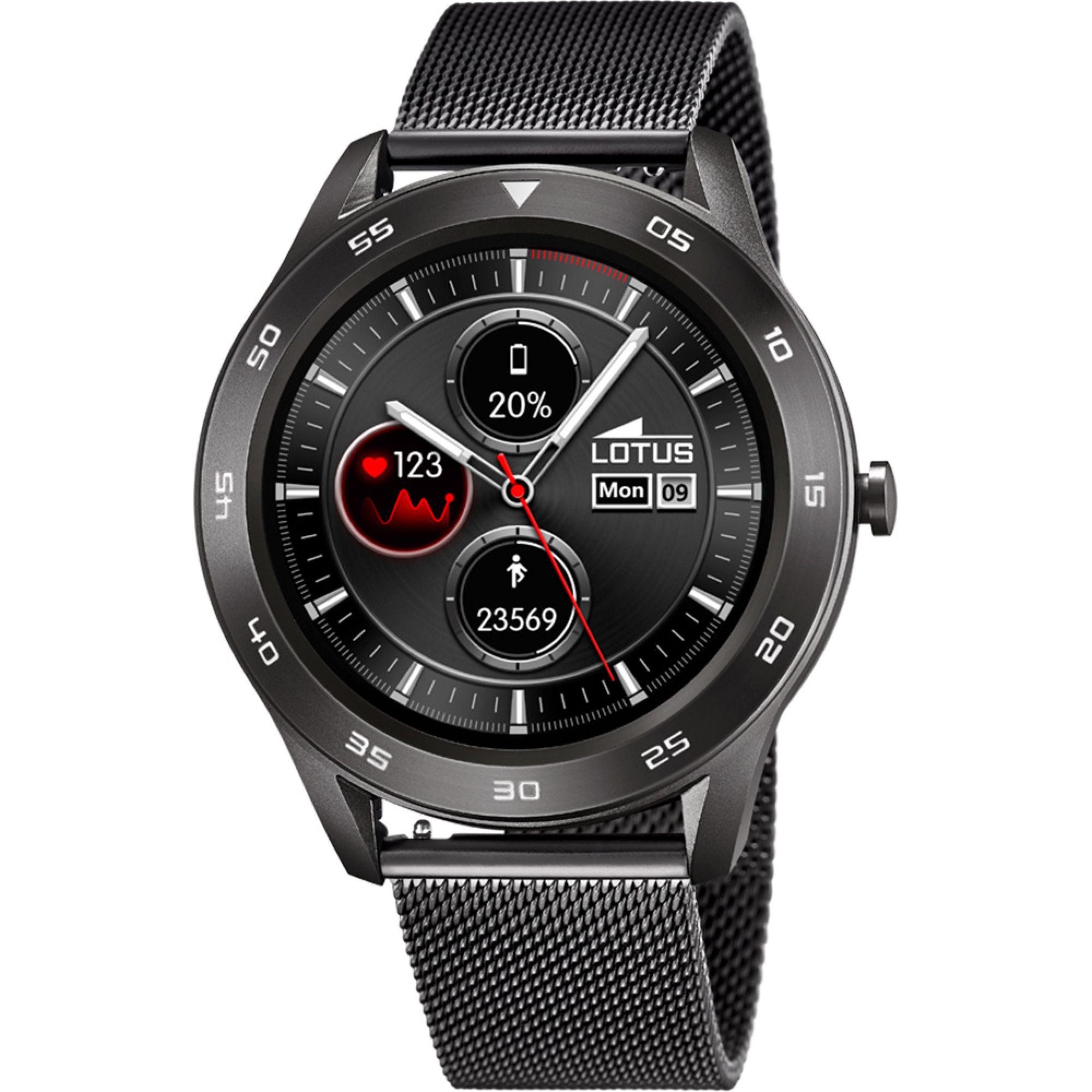 LOTUS Smartwatch Μαύρο Μπρασελέ L50011/1