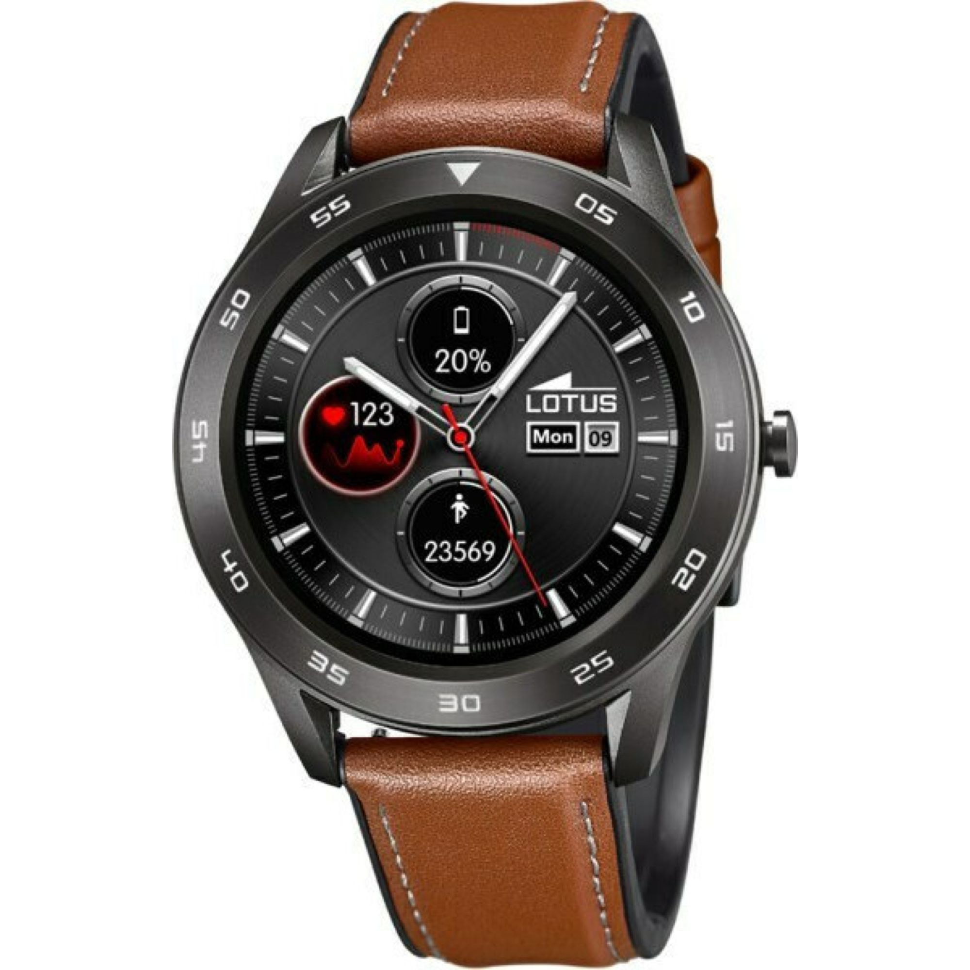 LOTUS Smartwatch με Καφέ Δερμάτινο Λουράκι L50012/1