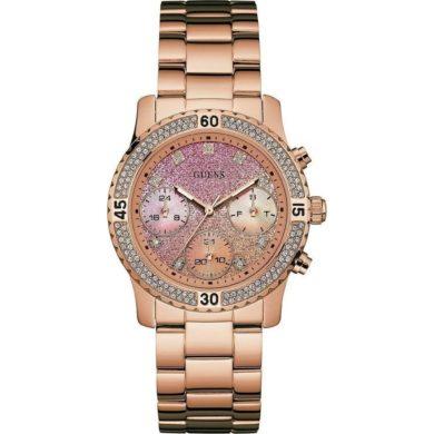 Ρολόι Guess με Ροζ Χρυσό Μπρασελέ και Καντράν W0774L3