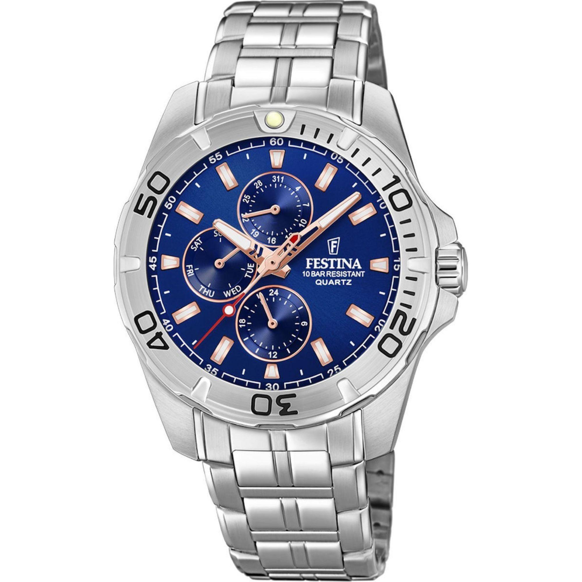 Ρολόι Festina με Χρονόμετρο και Μπλέ Καντράν F20445/5