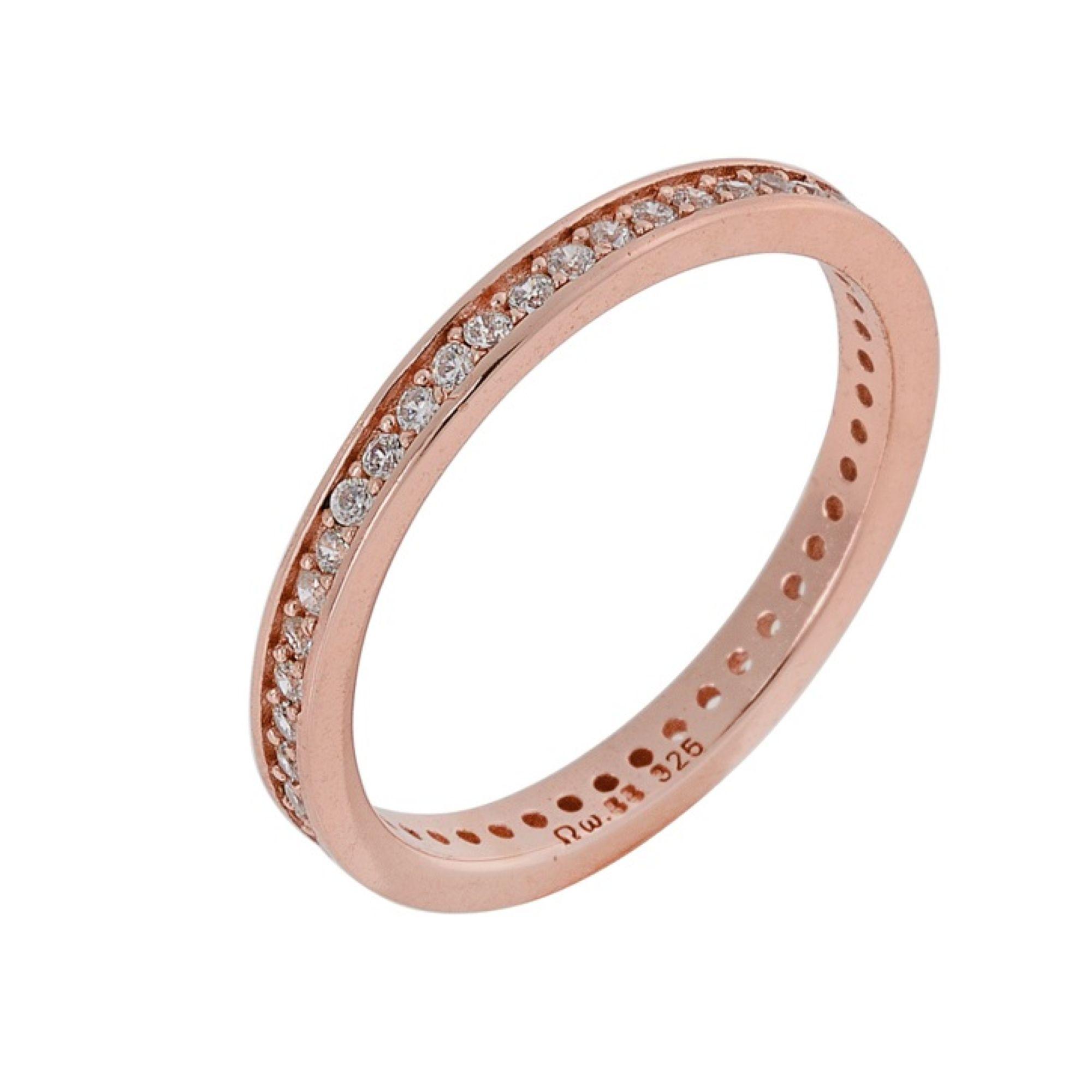 Ασημένιο δαχτυλίδι 925 Σειρέ σε Ροζ Gold
