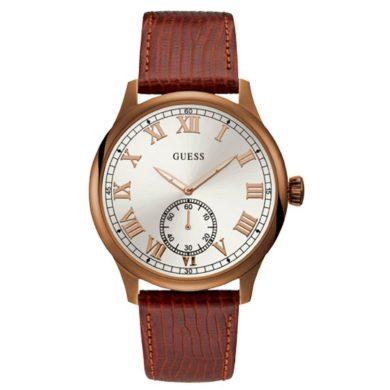 Ρολόι Guess με Καφέ Δερμάτινο Λουράκι W1075G3
