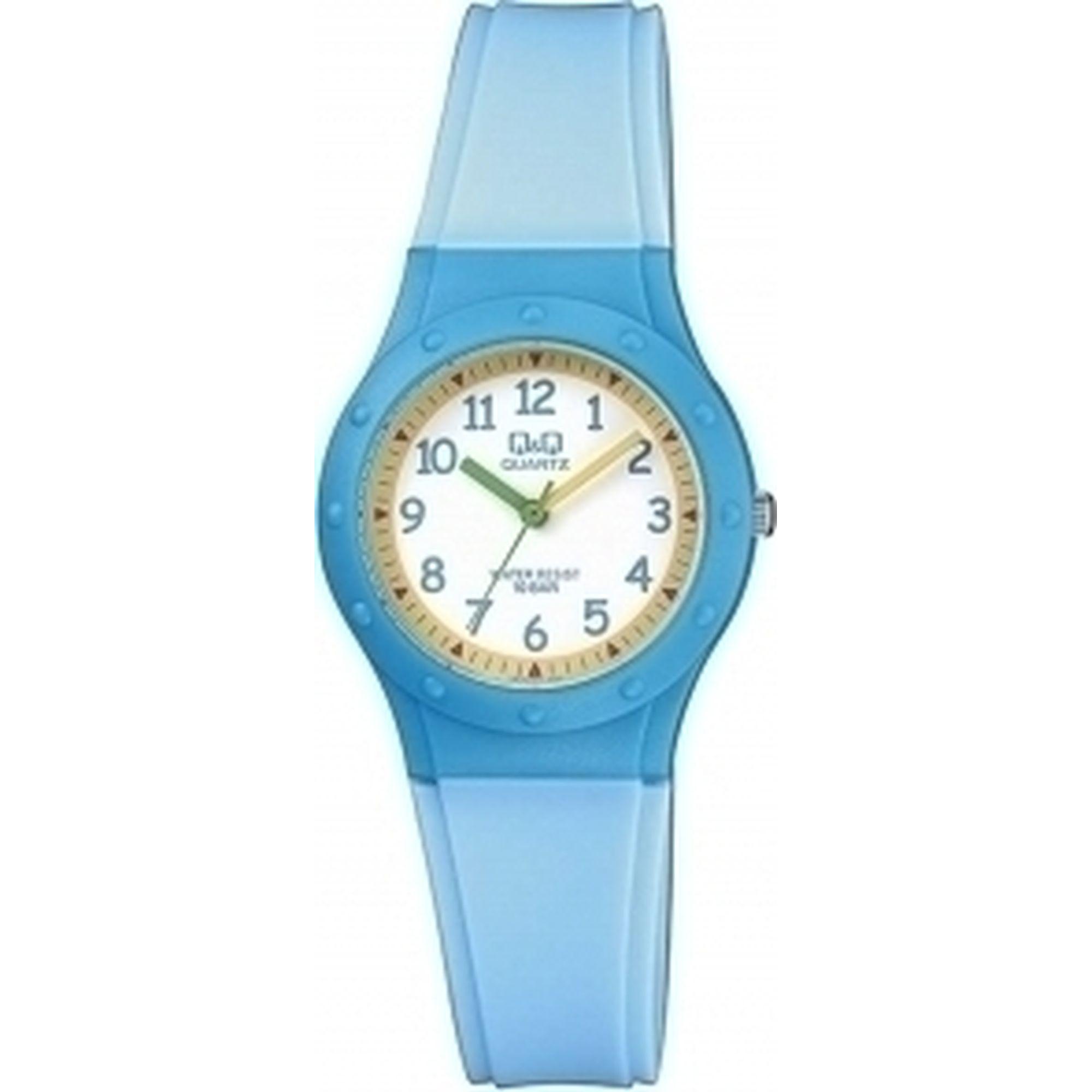 Q&Q ρολόι με Γαλάζιο Χρώμα Λουράκι VR75J001