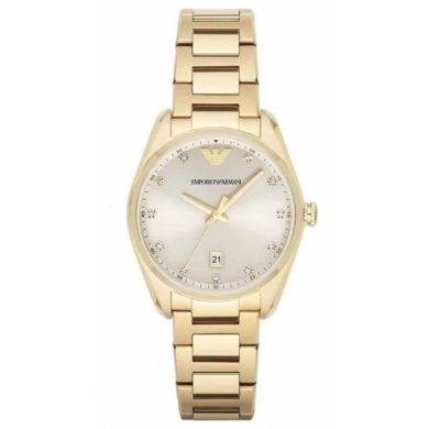 Emporio Armani Classic Champagne Dial Women's Watch AR6064