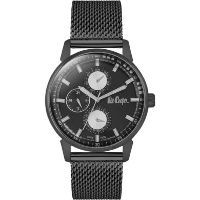 Lee Cooper Ρολόι Ανδρικό με Μαύρο Καντράν LC06580-650