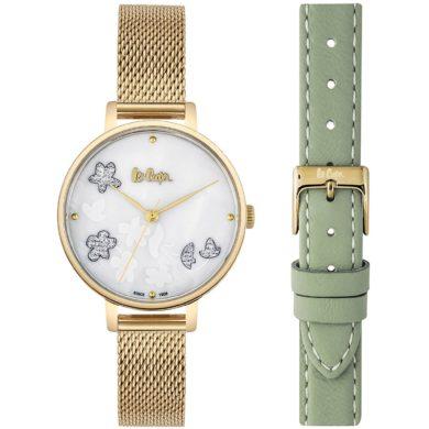 Γυναικείο Ρολόι, Ρολόι, Lee Cooper, Ρολόγια, Δωρεάν μεταφορικά, Lee Cooper Ρολόι με Μπρασελέ σε Χρυσό Χρώμα 35mm LC06789.125