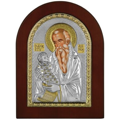 Ασημένια Εικόνα Princesilvero του Αγίου Στυλιανού MA-E1138-X 15x21cm
