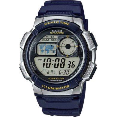 Casio Ψηφιακό Ρολόι με Μπλέ Λουράκι AE-1000W-2AVEF