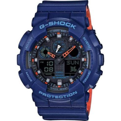 Casio G-Shock με Μπλέ Λουράκι GA-100L-2AER