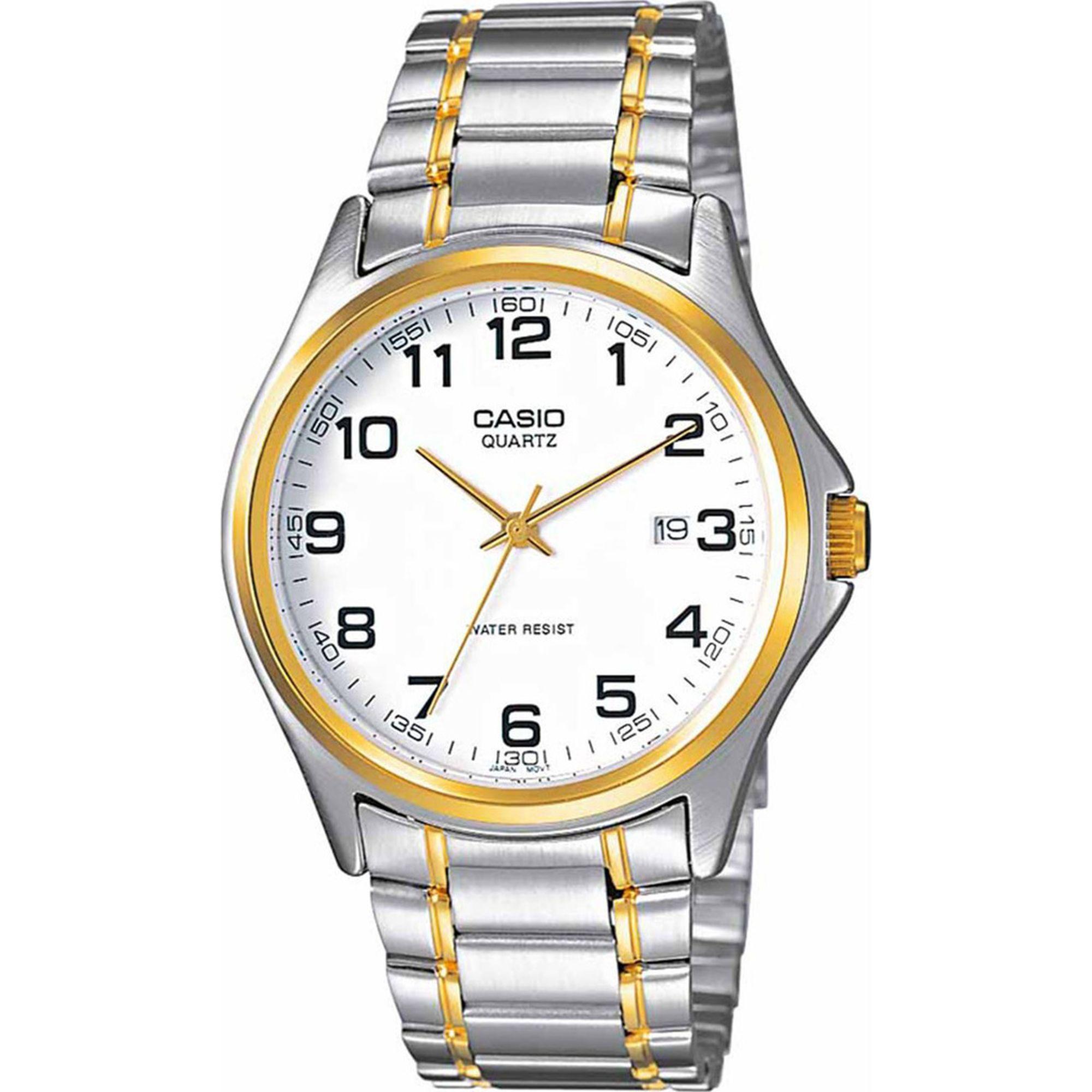 Casio Ρολόι με Δίχρωμο Μπρασελέ MTP-1188G-7BEF