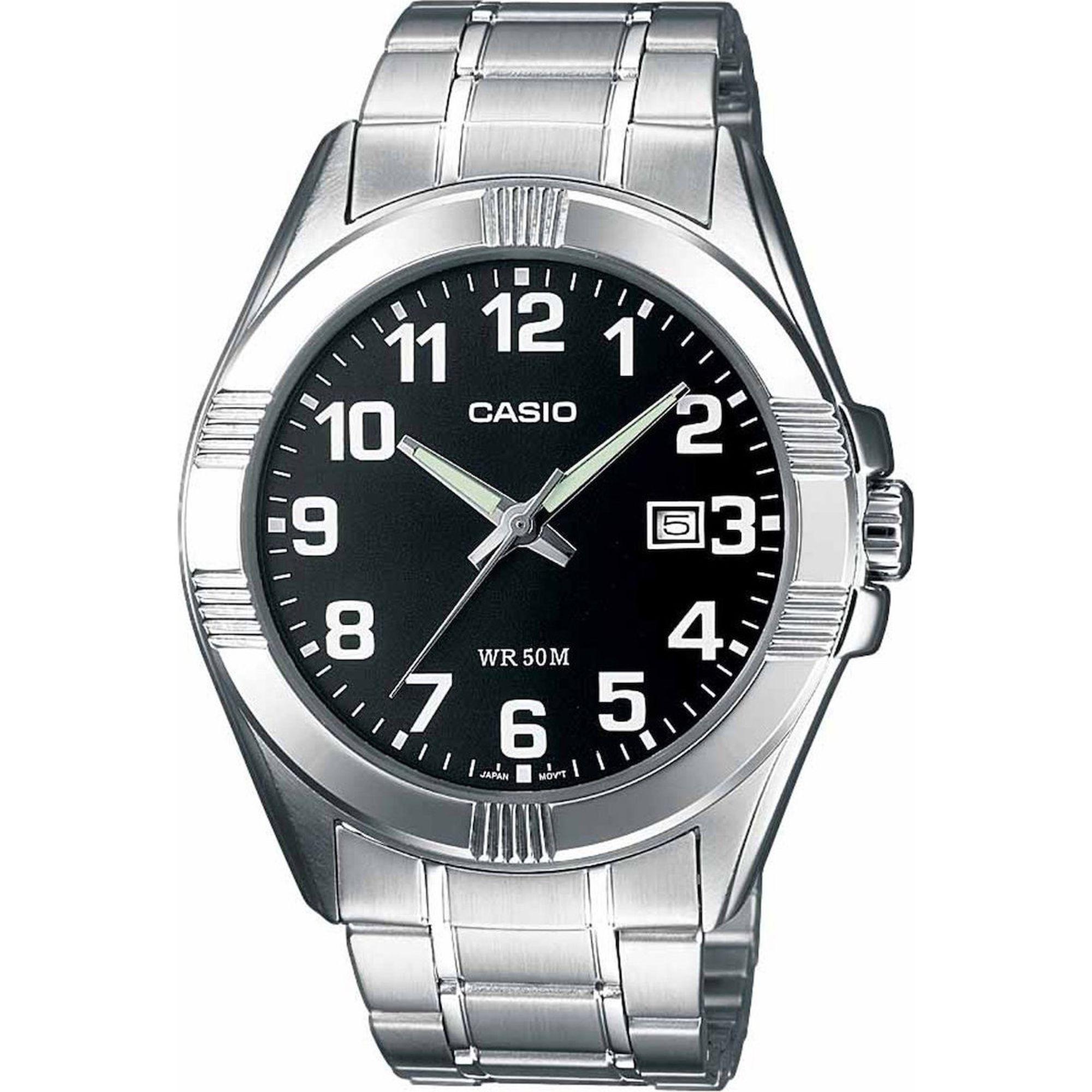 Casio Ρολόι με Ασημί Μπρασελέ MTP-1308PD-1BV