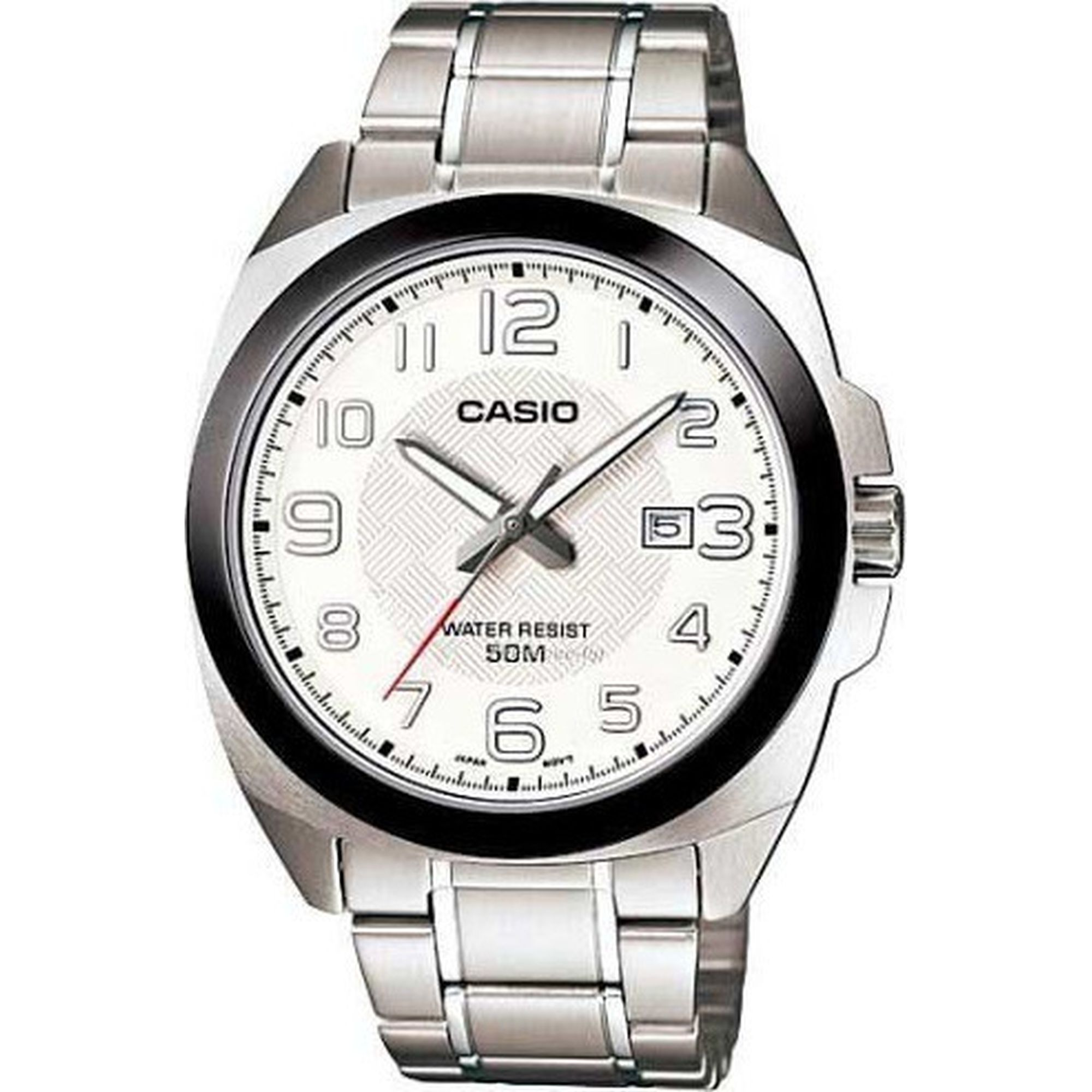 Casio με Λευκό Καντράν και Μπρασελέ MTP-1340D-7AV