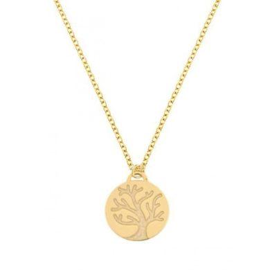 Χρυσό Κολιέ με Δέντρο της Ζωής 14 Καράτια