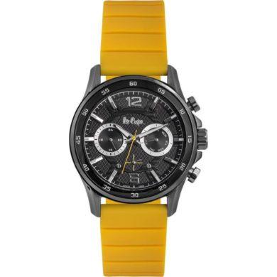 Ρολόι, Ρολόγια, Ανδρικά Ρολόγια, Lee Cooper Ρολόγια, Lee Cooper, Δωρεάν μεταφορικά, Lee Cooper Ρολόι με Κίτρινο Καουτσούκ Λουράκι LC06844.654