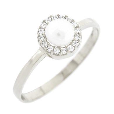 Δαχτυλίδι Ροζέτα με Μαργαριτάρι 9 Καράτια Λευκό