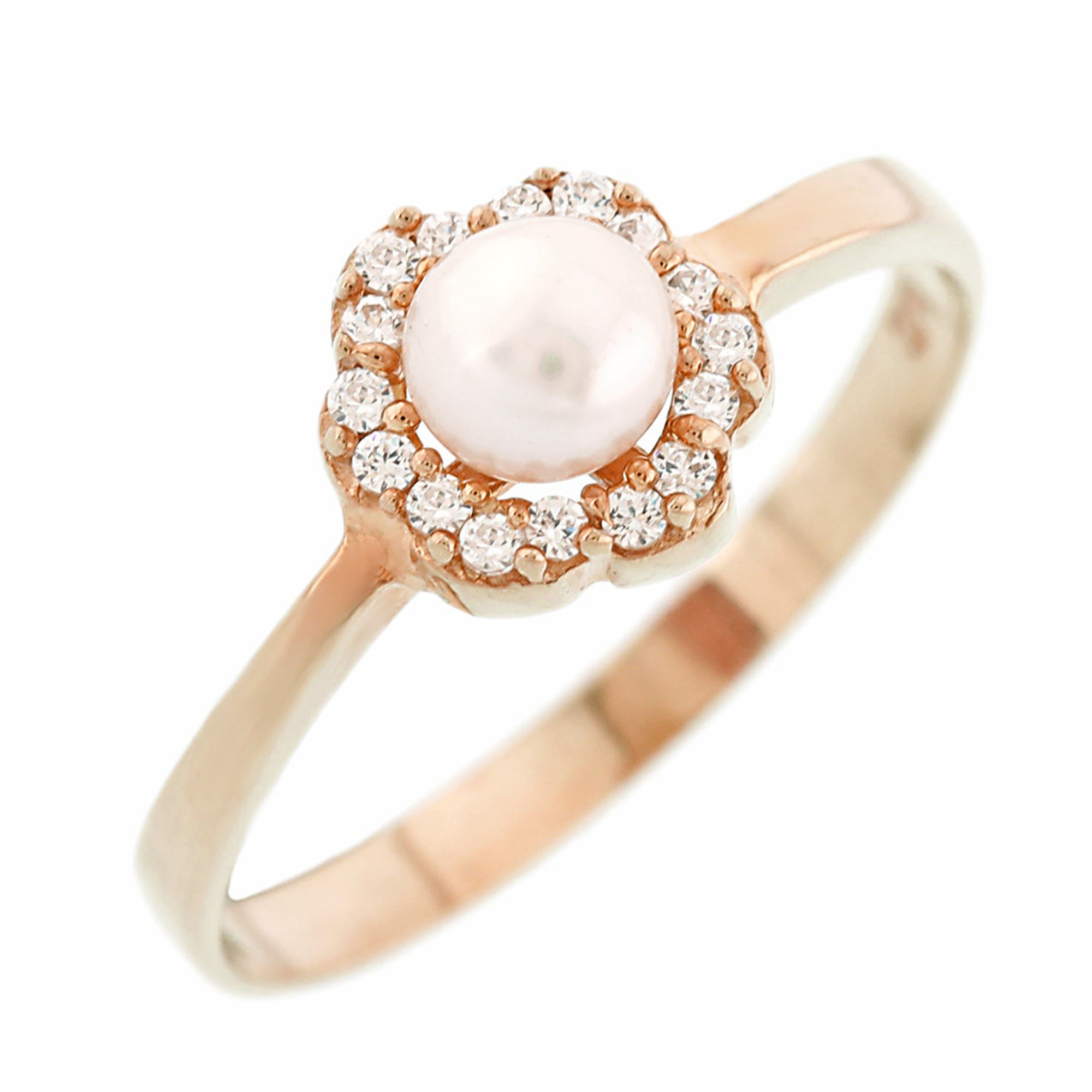 Χρυσό Δαχτυλίδι Ροζέτα με Μαργαριτάρι 9 Καράτια