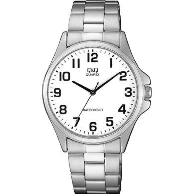 Ρολόγια, ρολόι, ανδρικό ρολόι, δώρα, Ρολόι Q&Q με Μπρασελέ και Λευκό Καντράν QA06J204Y