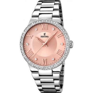 Ρολόι Festina Mademoiselle Ασημί με Φίλντισι F16719/ + Δώρο Βραχιόλι