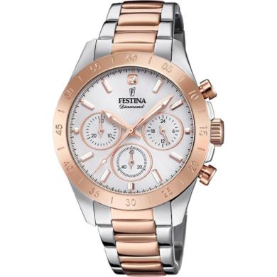 Ρολόι Festina Diamond Δίχρωμο F20398/1 + Δώρο Βραχιόλι