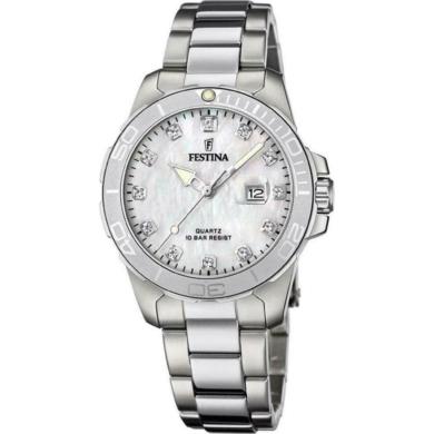 Ρολόι Festina Boyfriend Ασημί με Φίλντισι F20503/1 + Δώρο Βραχιόλι