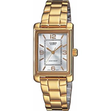 Casio Ρολόι με Χρυσό Μπρασελέ LTP-1234PG-7AEF