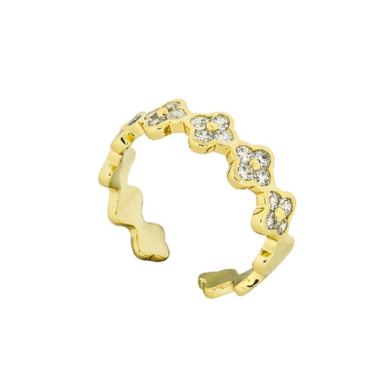 Loisir Δαχτυλίδι FASHIONISTAS Χρυσό Χρώμα 04L15-00293