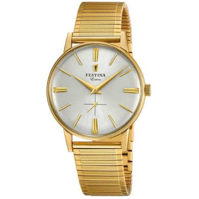 Ρολόι Festina με Χρυσό Μπρασελέ F20251/1 + Δώρο Βραχιόλι