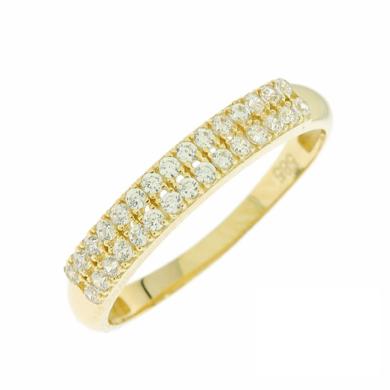 Δαχτυλίδι Σειρέ με Πέτρες Ζιργκόν 14 Καρατίων