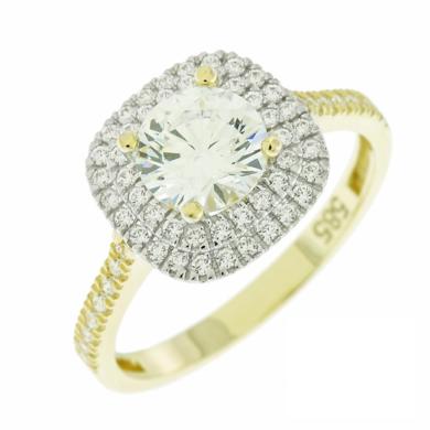 Δαχτυλίδι Ροζέτα με Λευκές Πέτρες
