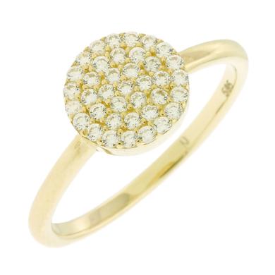 Δαχτυλίδι με Λευκές Πέτρες Ζιργκόν 14 Καράτια