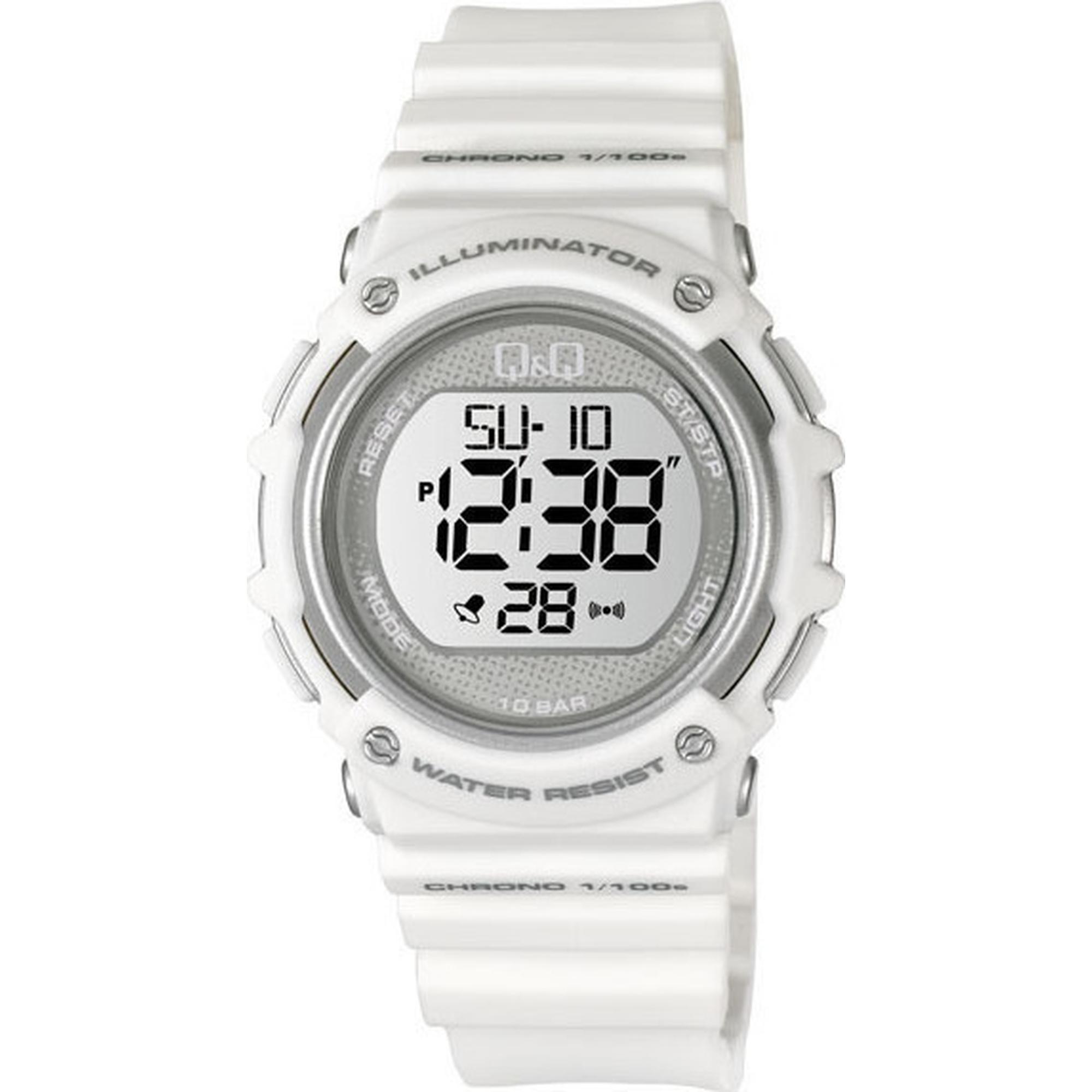 Ρολόι Q&Q με Λευκό Καουτσούκ Λουράκι M139J002Y
