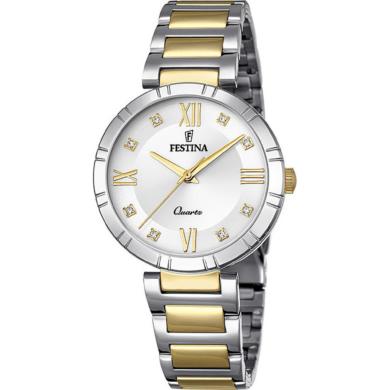 Ρολόι Festina με Δίχρωμο Μπρασελέ F16937/A +Δώρο Βραχιόλι
