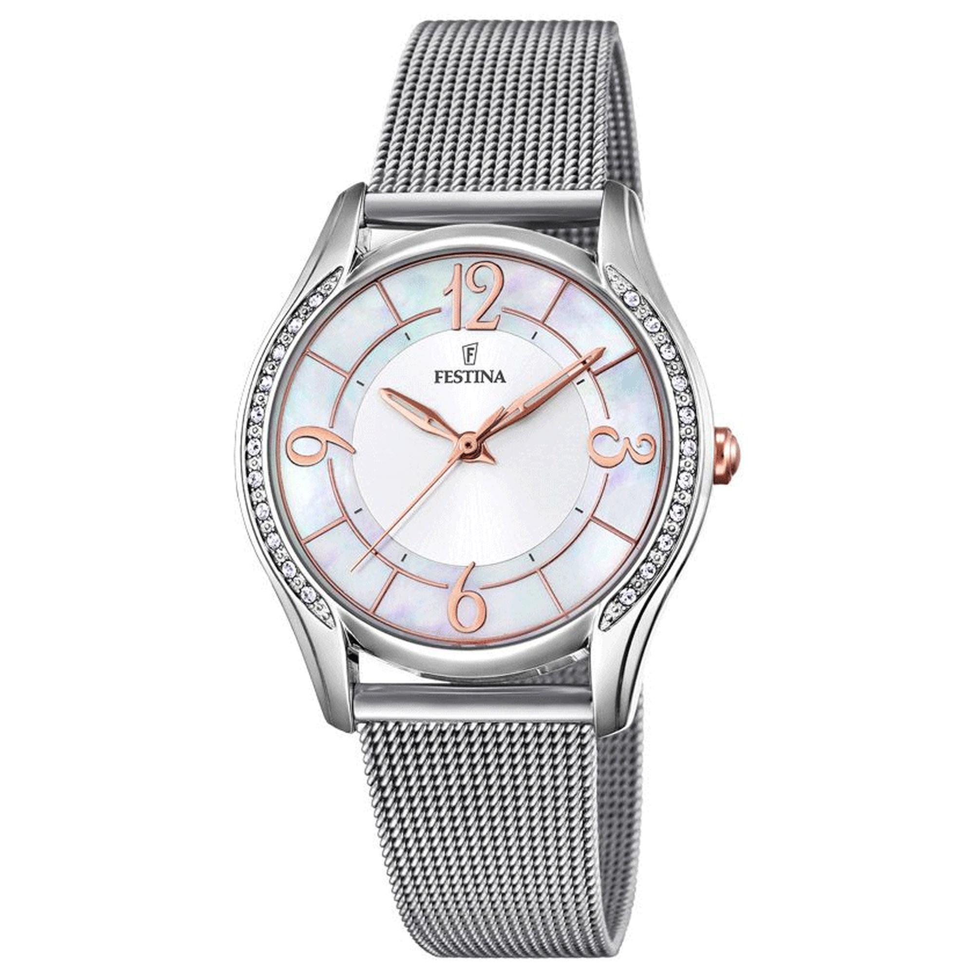 Ρολόι Festina με Ασημί Μπρασελέ F20420/1 + Δώρο Βραχιόλι