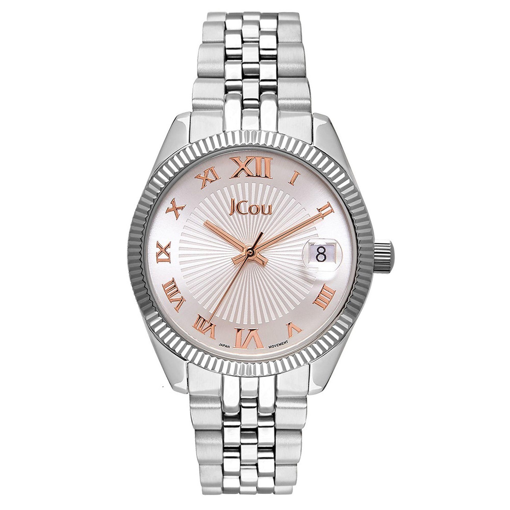 Jcou Queen's Mini με Ασημί Μπρασελέ JU17031-5, Ρολόι, Ρολόγια, Χρυσό Μπρασελέ, JCou, Αδιάβροχα ρολόι, γυναικείο ρολόι,