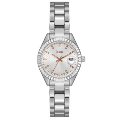 Jcou QUEEN'S PETIT με Ασημί Μπρασελέ JU18035-3, Ρολόι, Ρολόγια, Χρυσό Μπρασελέ, JCou, Αδιάβροχα ρολόι, γυναικείο ρολόι,