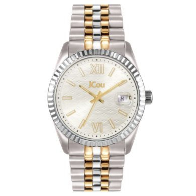 Jcou QUEEN'S II με Δίχρωμο Μπρασελέ JU19038-5, Ρολόι, Ρολόγια, Χρυσό Μπρασελέ, JCou, Αδιάβροχα ρολόι, γυναικείο ρολόι,