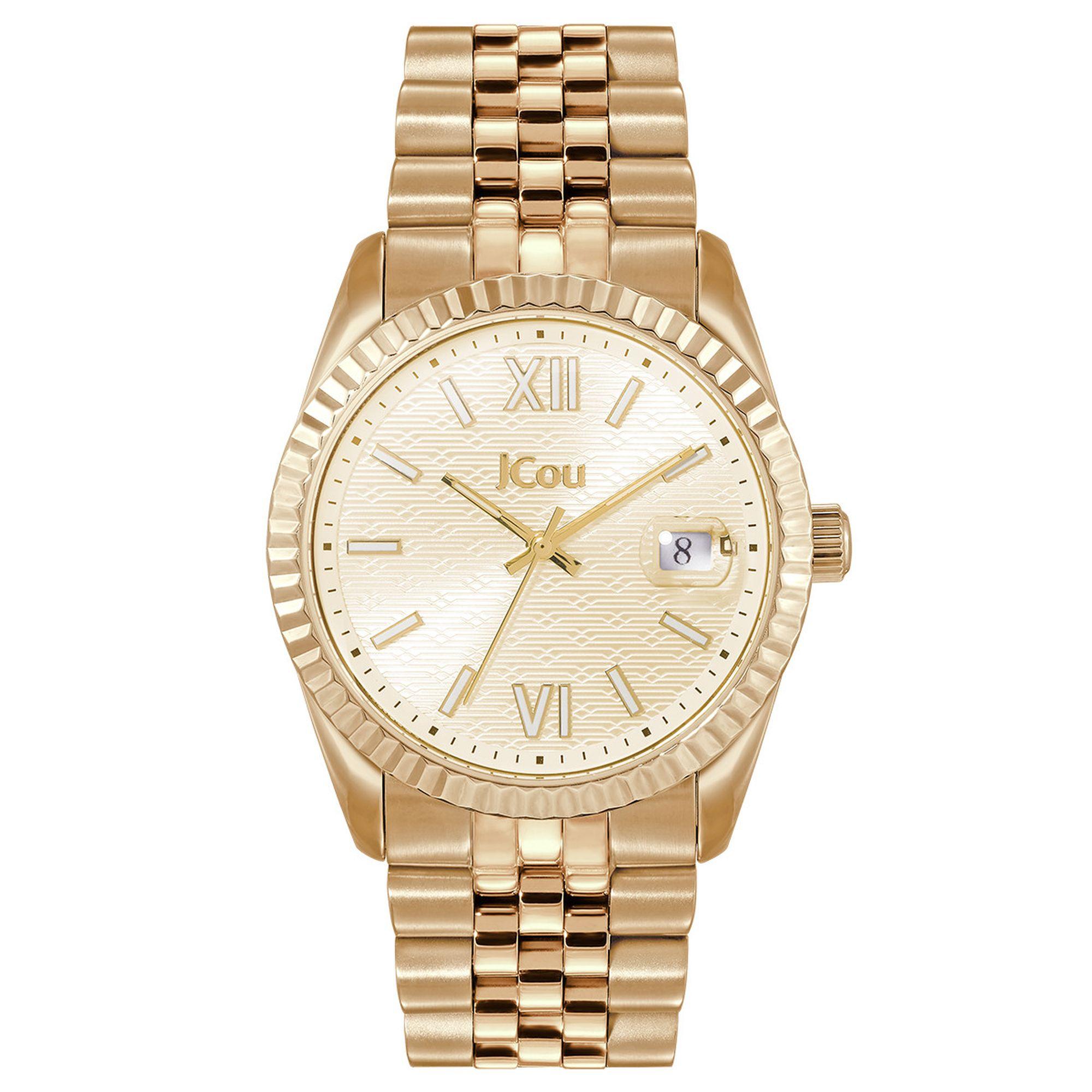 Ρολόι, Ρολόγια, Χρυσό Μπρασελέ, JCou, Αδιάβροχα ρολόι, γυναικείο ρολόι,