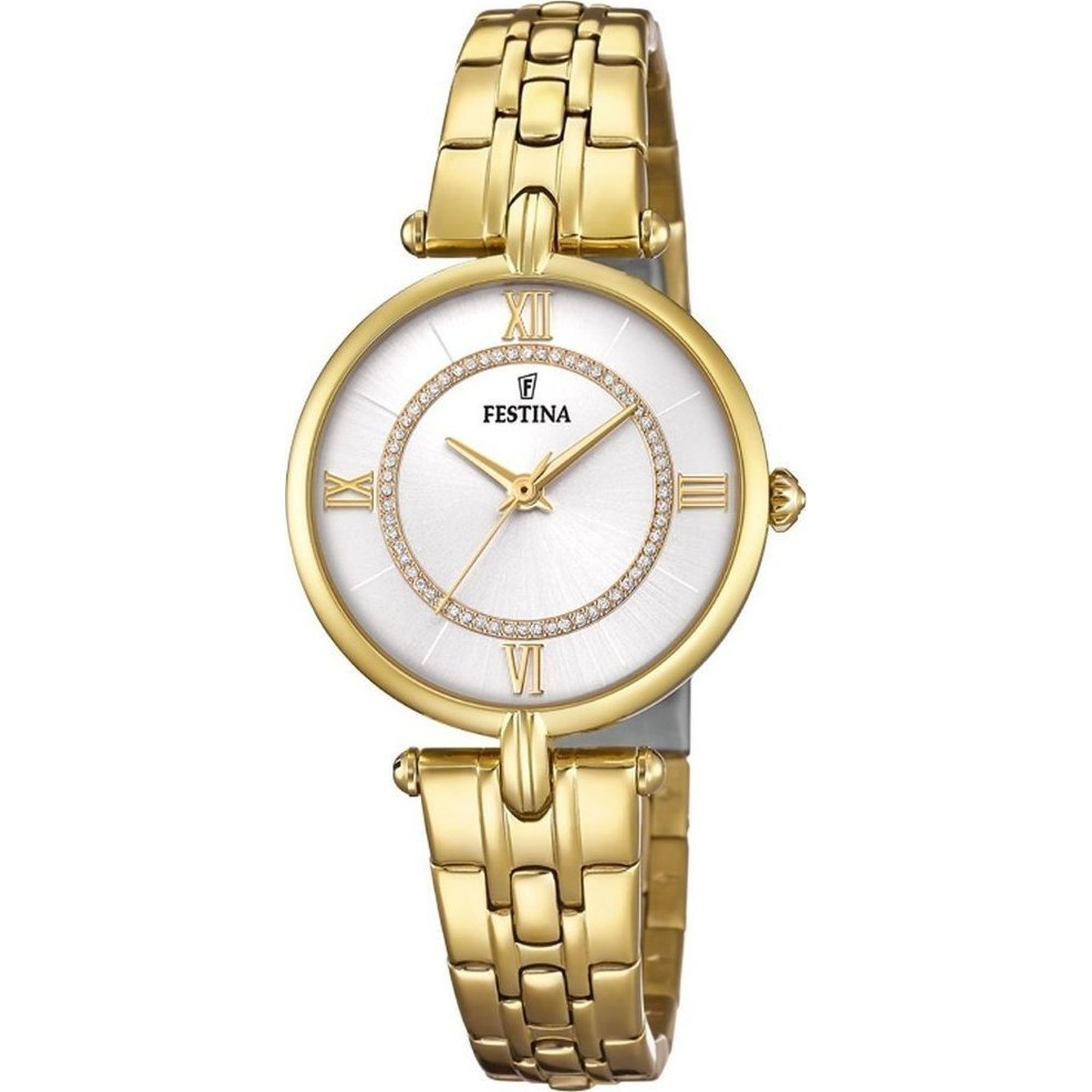 Ρολόι Festina με Χρυσό Μπρασελέ F20317/1 + Δώρο Βραχιόλι