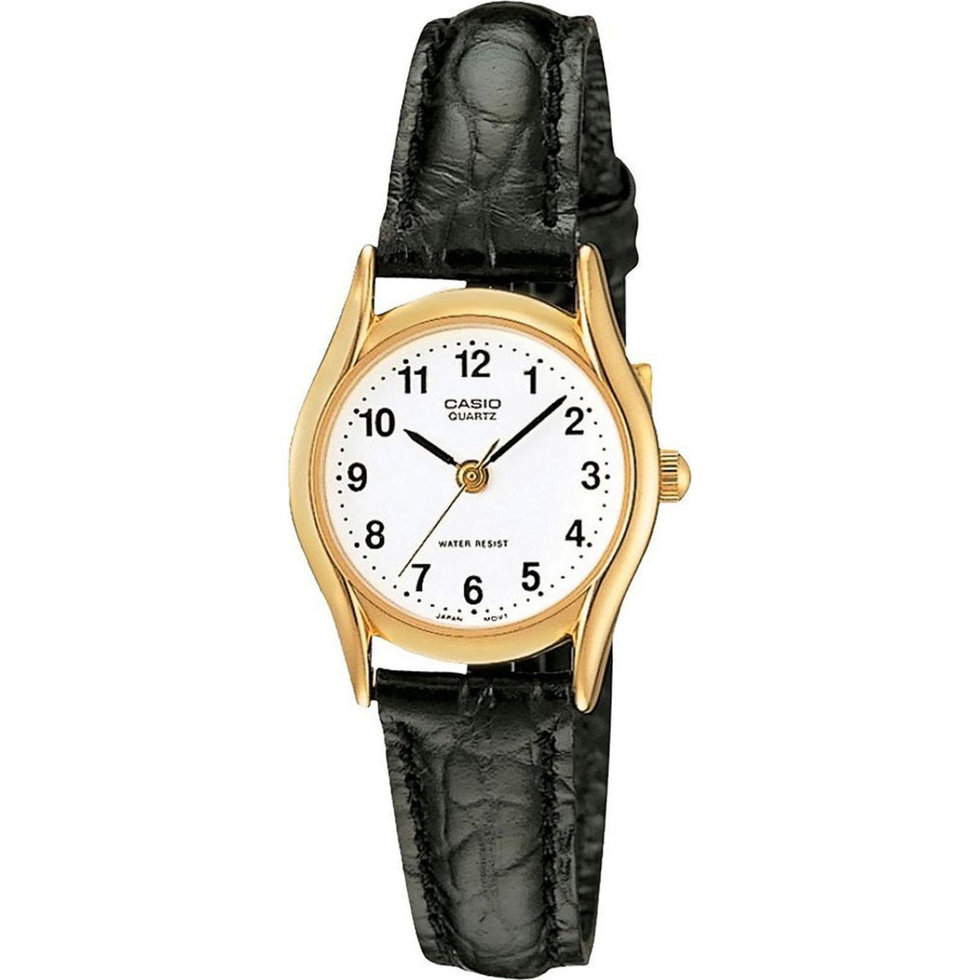 Casio Ρολόι με Μαύρο Δερμάτινο Λουράκι LTP-1154PQ-7BEF
