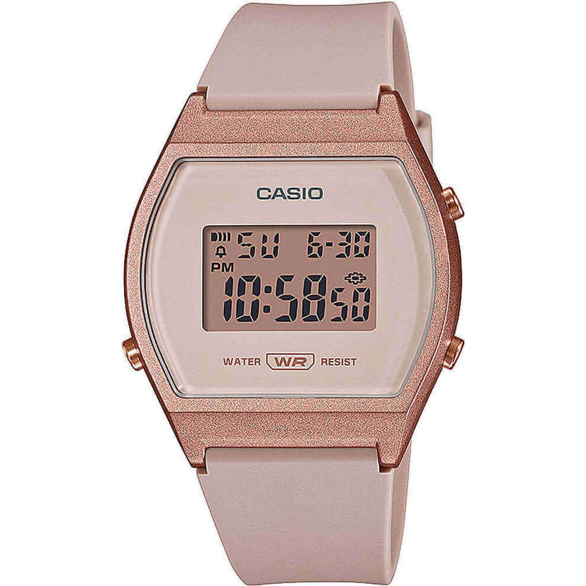 Casio Ρολόι με Καουτσούκ Λουράκι σε Ροζ χρώμα LW-204-4AEF