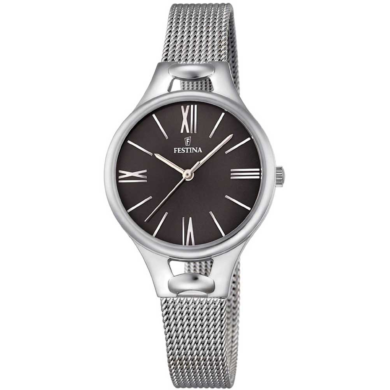 Ρολόι Festina με Ασημί Μπρασελέ F16950/2 + Δώρο Βραχιόλι