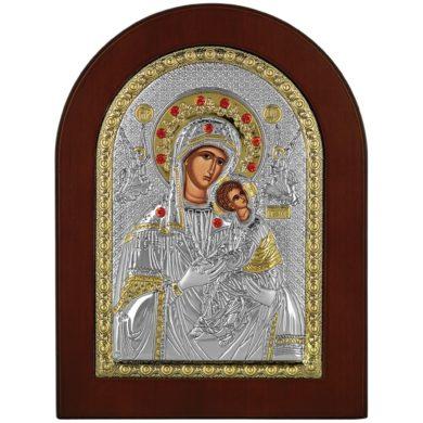 Ασημένια Εικόνα Prince Silvero Παναγία η Αμόλυντος MA-E1115-X