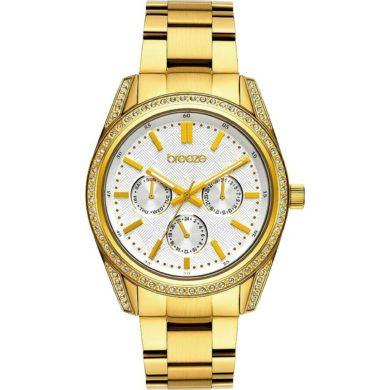ρολόι, γυναικέιο ρολόι, Breeze, breeze roloi, rologia, Breeze Floris με Μπρασελέ σε Χρυσό χρώμα 212201.2