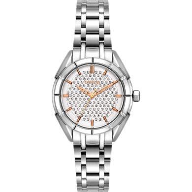 Breeze Gemstonia με Ασημί Μεταλλικο Μπρασελέ 612181.1, ρολόι, γυναικέιο ρολόι, Breeze, breeze roloi, rologia,