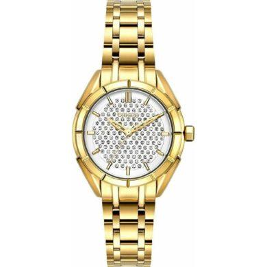 Breeze Gemstonia με Χρυσό Μεταλλικο Μπρασελέ 212181.2, ρολόι, γυναικέιο ρολόι, Breeze, breeze roloi, rologia,