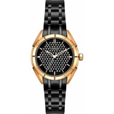 Breeze Gemstonia με Μαύρο Μεταλλικο Μπρασελέ 812181.2, ρολόι, γυναικέιο ρολόι, Breeze, breeze roloi, rologia,