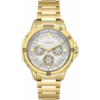 Breeze Illumina με Χρυσό Μεταλλικο Μπρασελέ 212241.2, ρολόι, γυναικέιο ρολόι, Breeze, breeze roloi, rologia,