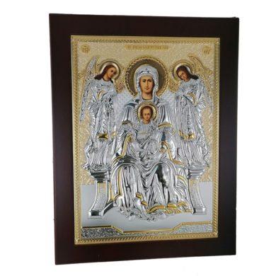 """Ασημένια Εικόνα Prince Silvero """"Παναγία η Πεφανερομένη"""" 26Χ20cm """" MA/E1150AX"""