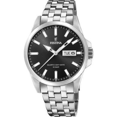 Ανδρικό Ρολόι Festina με Μαύρο Καντράν F20357/4