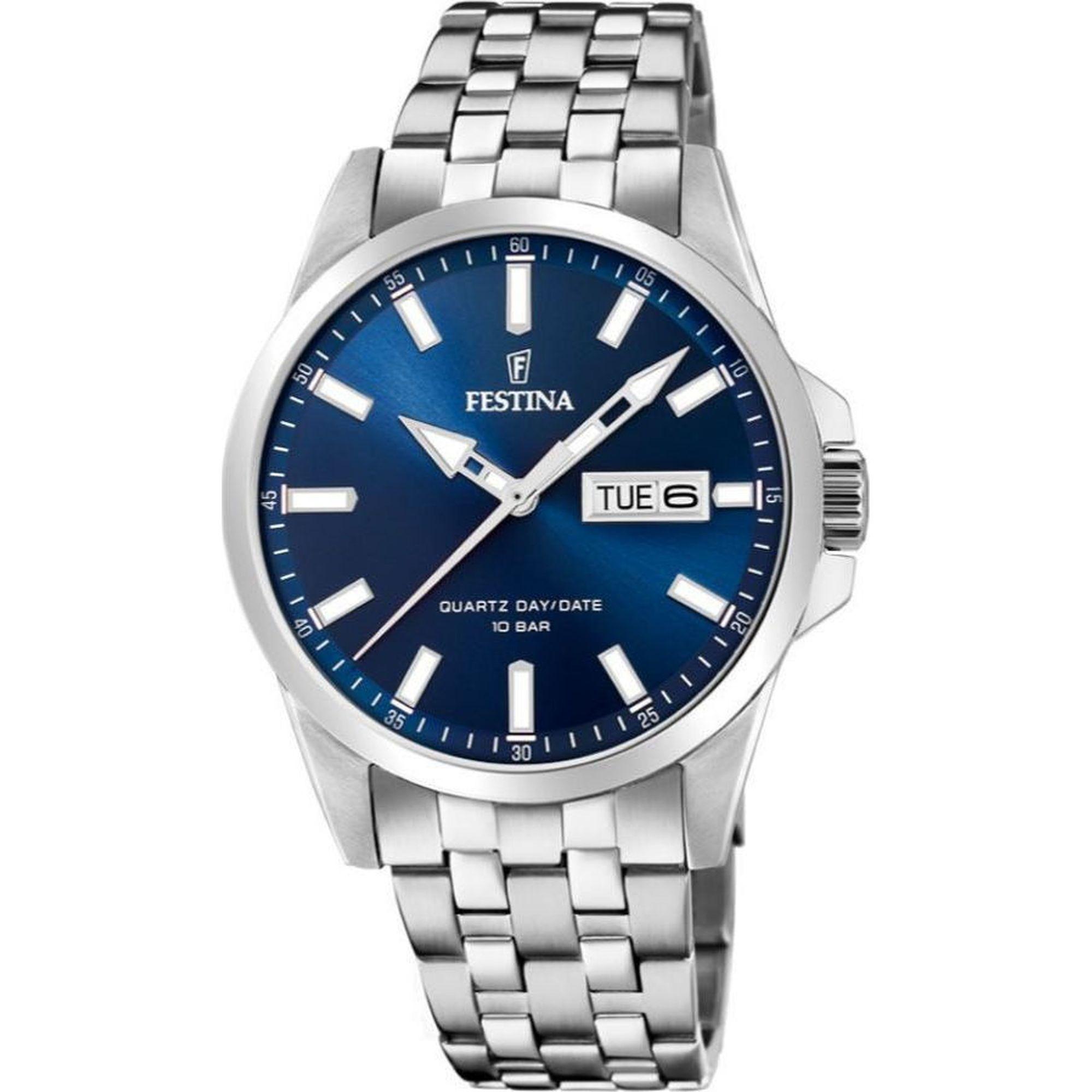 Ανδρικό Ρολόι Festina με Μπλέ Καντράν F20357/3